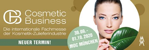 Messe Cosmetic Business 30.09. – 01.10.2020| ABGESAGT